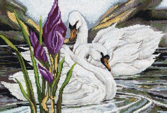 вышивка голуби - Самое