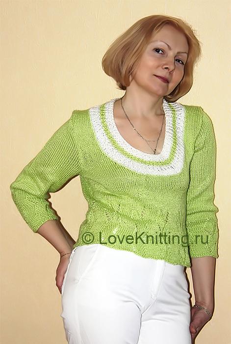 02 Пуловер с рукавами 3_4 МТ2 (471x700, 372Kb)
