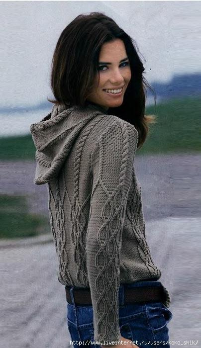 Пуловер с капюшоном (404x700, 159Kb)