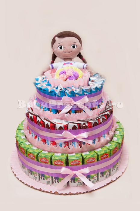 Как сделать детский торт мастер класс