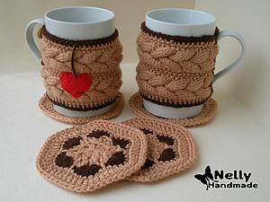 вязание одежки для кружки