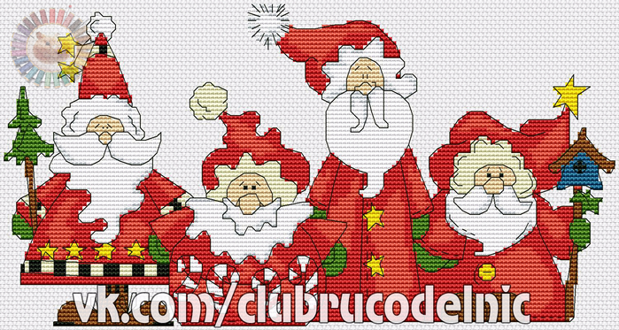 Four Santa (700x373, 439Kb)