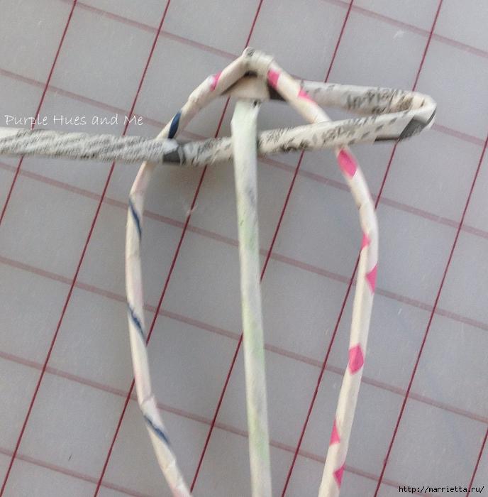 Плетение. Цветы из газетных трубочек (2) (688x700, 322Kb)
