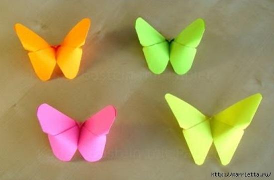 Бабочки из бумаги в технике оригами. Видео мк (549x360, 79Kb)