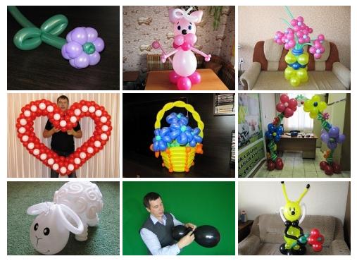 Изготовление фигур из шаров своими руками