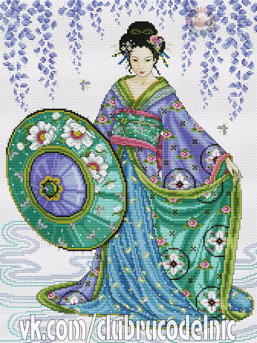 Garden Geisha (525x700, 693Kb)