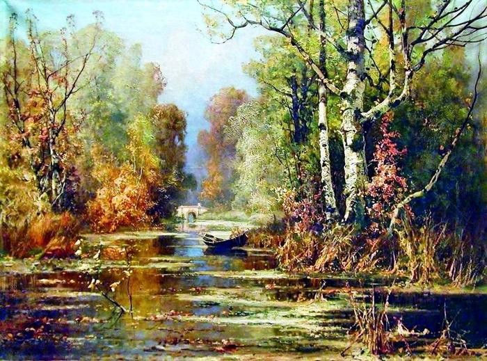 2. Клевер Юлий Юльевич, Осенний парк (700x519, 554Kb)