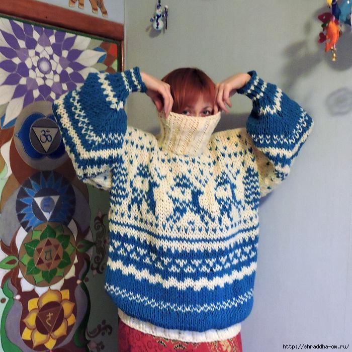 свитер с оленями от Shraddha (1) (700x700, 443Kb)