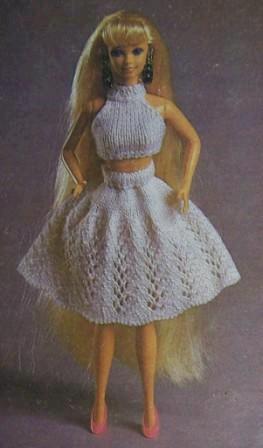 Вязанные юбки для кукол