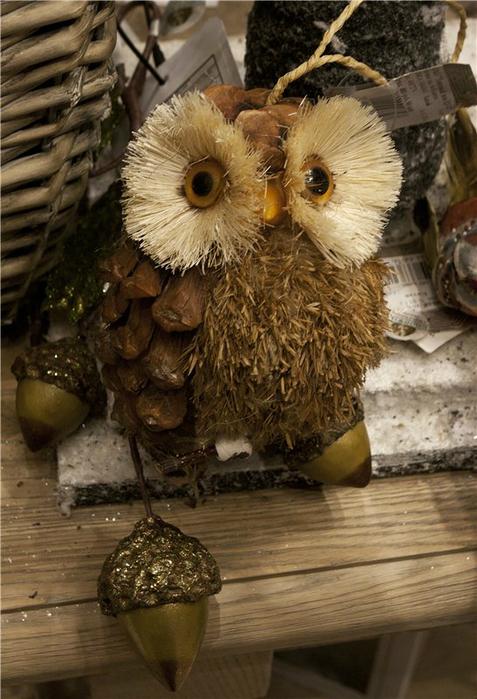 Как сделать сову из шишек еловых мастер класс