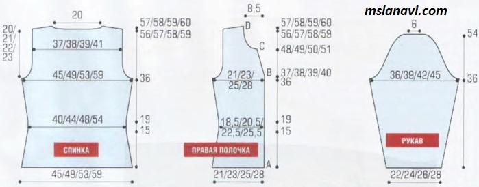 простой-жакет-спицами-выкройка (699x274, 118Kb)
