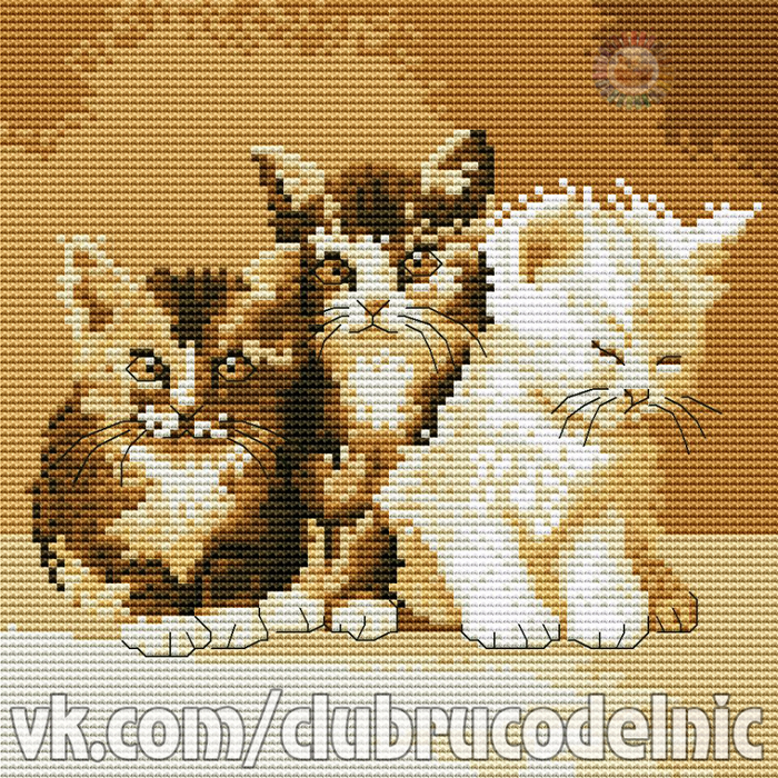 Three Cute Cats (700x700, 882Kb)