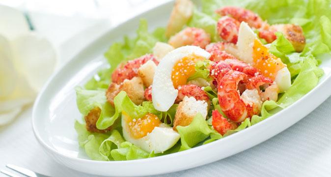 Креветки перец яйца салат рецепт
