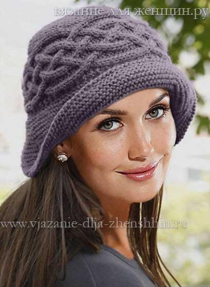 Очаровательная вязаная шляпка