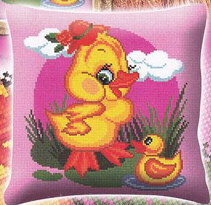 Вышивка крестом бесплатные схемы подушка детская
