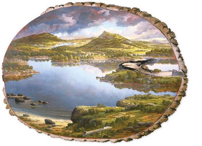 картины на срубах Элисон Моритсугу 2 (700x506, 274Kb)