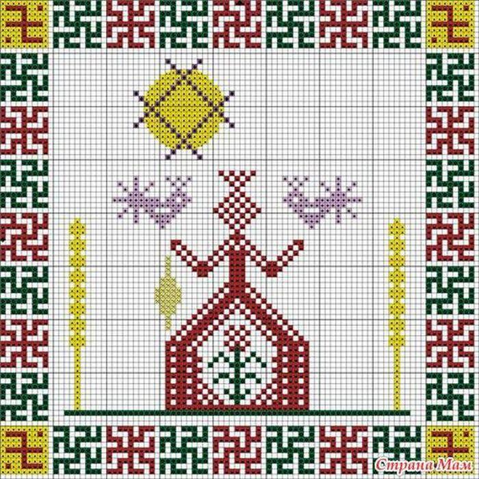 Узел любви славянский оберег значение схема вышивки 58