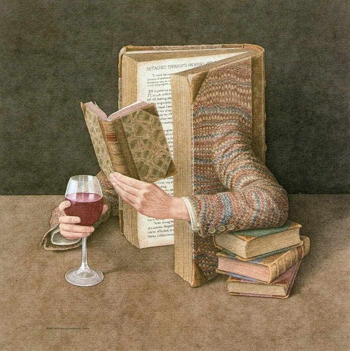 Jonathan Wolstenholme 1950 - British Surrealist painter - Tutt'Art@ (9) (698x700, 548Kb)