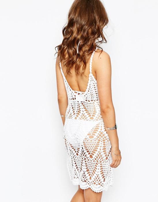 Пляжное платье кроше с открытой спиной Spiritual Hi-ppie (548x700, 218Kb)