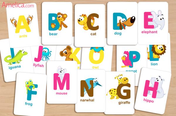 Как сделать карточки алфавита по английский