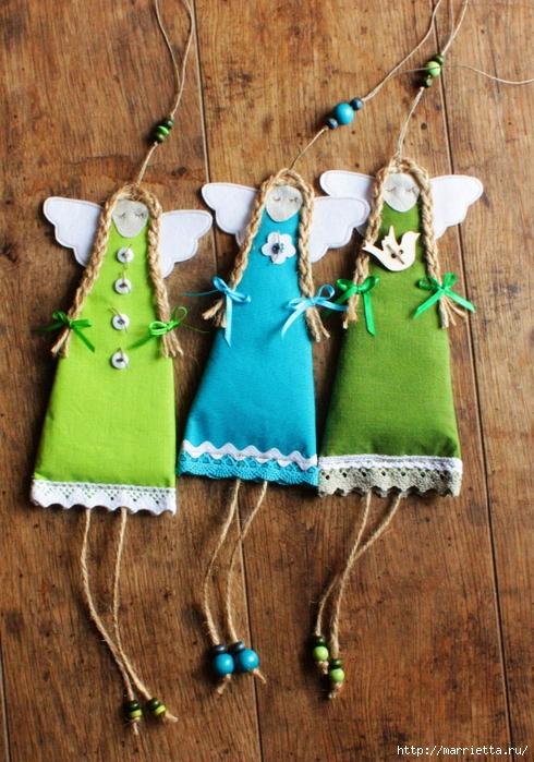 Закладки для книжки и подвески с ангелами. Идеи (10) (490x700, 351Kb)