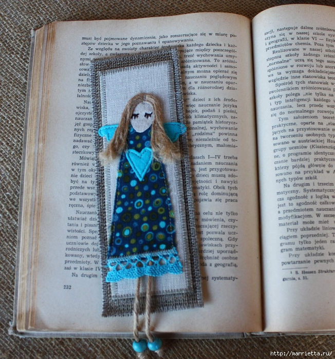 Закладки для книжки и подвески с ангелами. Идеи (19) (652x700, 422Kb)
