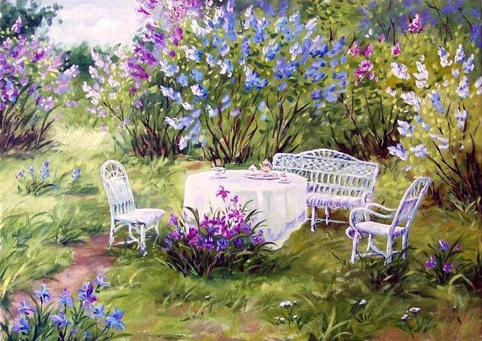 Чай в саду
