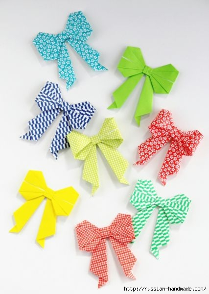 Бантики из бумаги в технике оригами (1) (427x600, 117Kb)