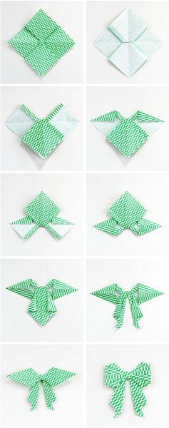 Бантики из бумаги в технике оригами (4) (237x600, 95Kb)