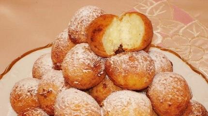 пончики творожные за 10 минут рецепт