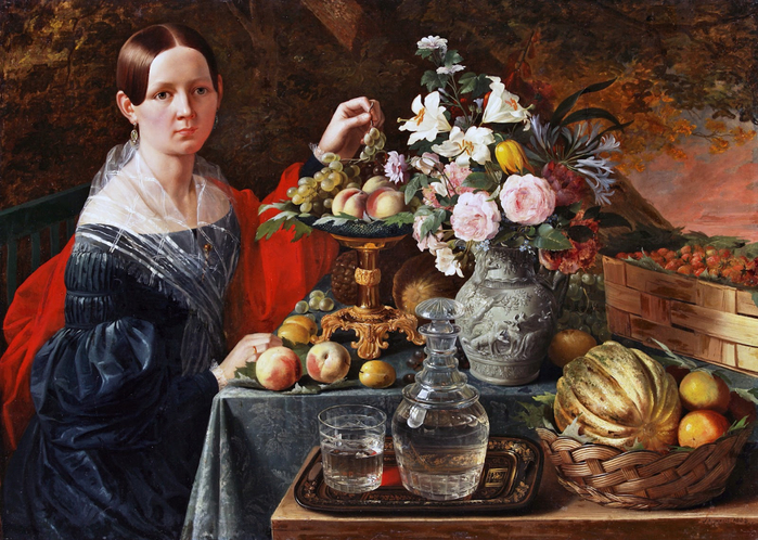 ivan-khrutsky-portrait-of-an-unknown-woman-with-flowers-and-fruit-1838 (700x498, 486Kb)