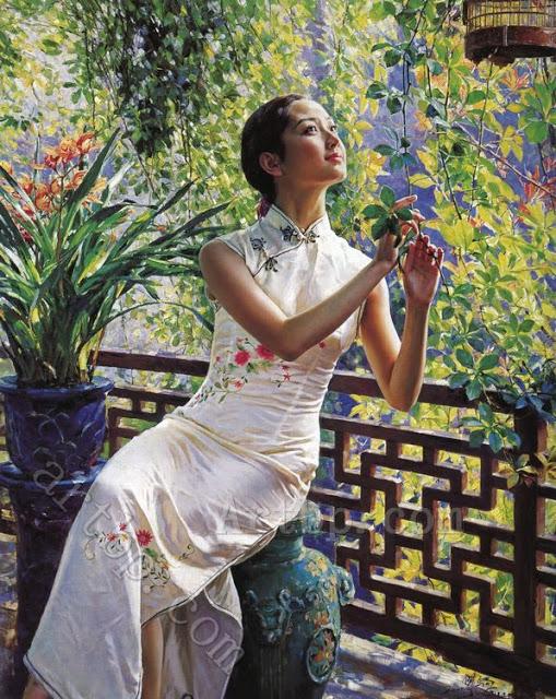 cheap-font-b-country-b-font-decorations-Classical-eastern-girl-portrait-Guan-Zeju-font-b-painting (509x640, 420Kb)