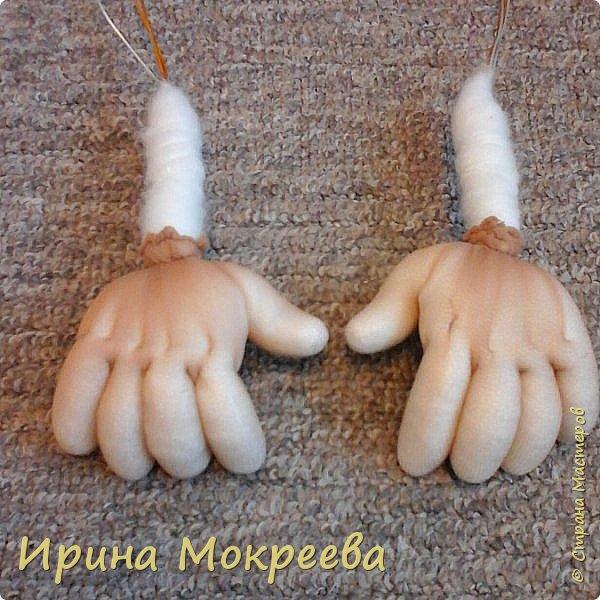 Как сшить ручки для чулочной куклы 91