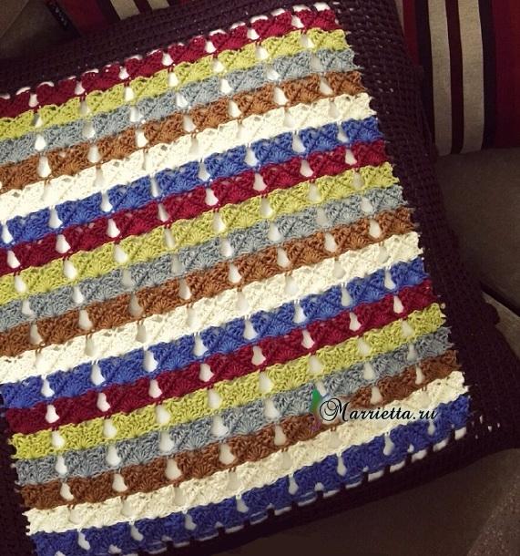 Две подушки крючком. Схемы вязания (1) (571x610, 441Kb)