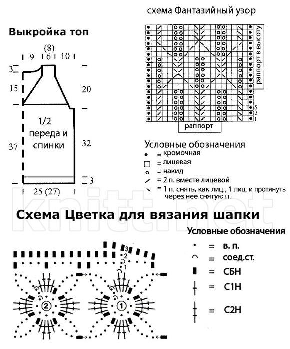 top-s-dyrochkami-i-shapochka-shema (581x700, 90Kb)