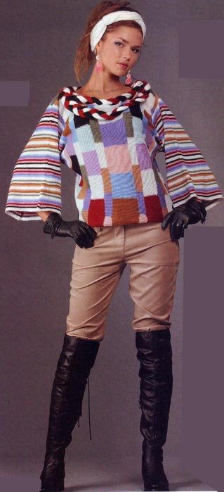 """Схема вязания свитера летучая мышь  """" Самая лучшая одежда."""