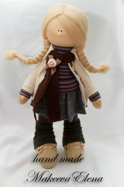 Текстильная кукла снежка своими руками мастер класс