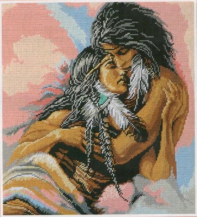 Схемы вышивка крестом индейцы