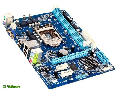 ����������� ����� Gigabyte GA-H61M-S1 (rev. 2.0), Socket 1155, iH61, 4xDDR3, 1xPCI-E16x, VGA, SATA2, USB 2.0, GbLAN, 7.1CH, microATX (500x393, 68Kb)