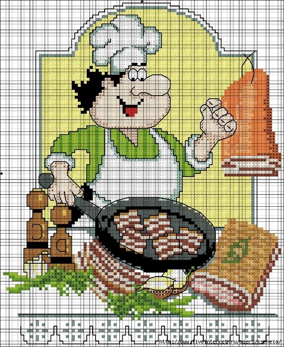 Вышивка крестом кулинария 3148