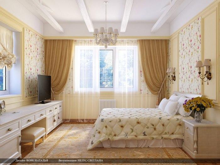 Дизайн спальни частного дома фото