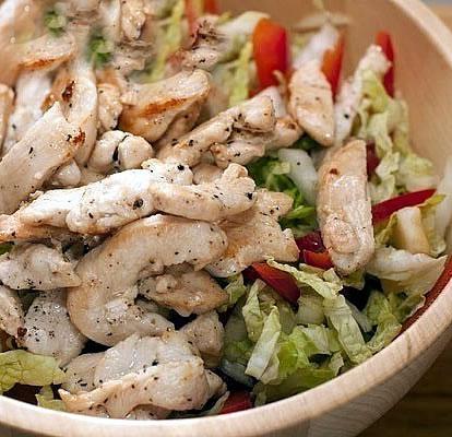 салат с куриной грудкой  (414x400, 152Kb)