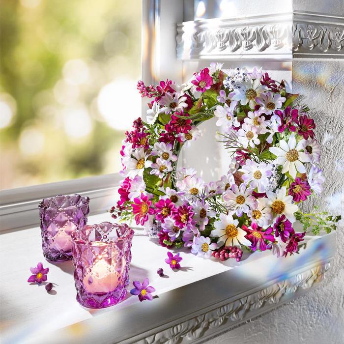 Веночки из искусственных цветов своими руками