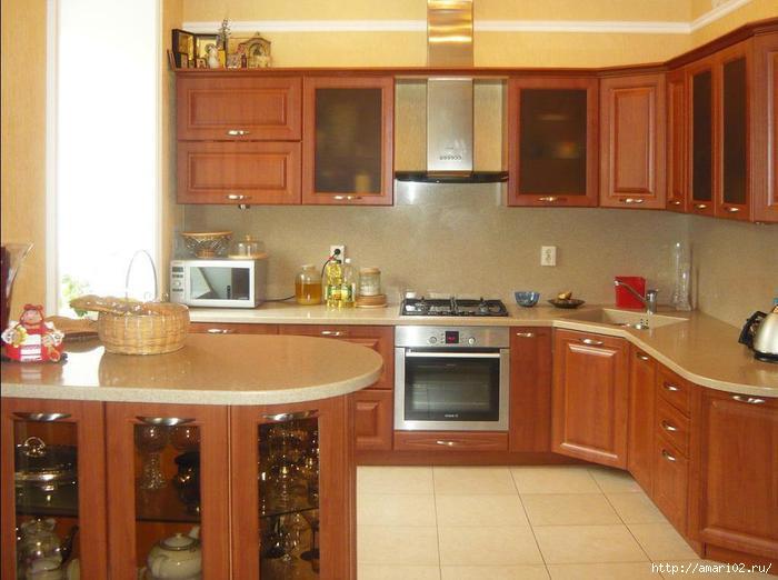 Мебель кухня с газовой колонкой 2