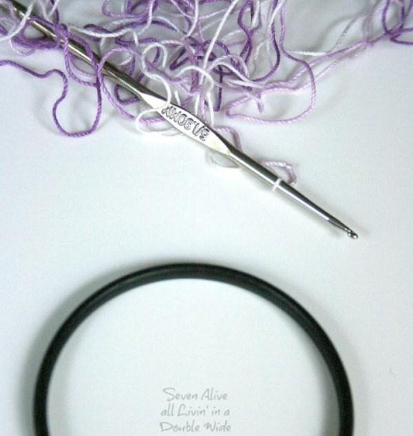 Серьги и браслет крючком