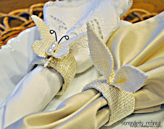 Burlap Easter Spring Napkin Ring Bunny Ear Butterfly Tablescape 20 (640x507, 285Kb)