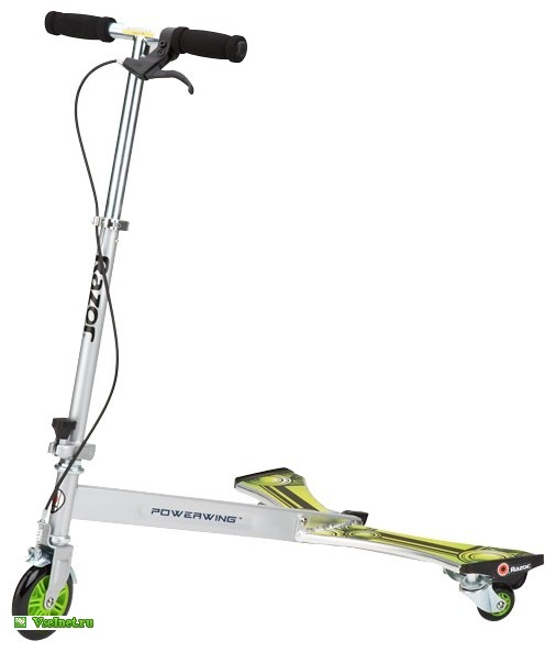 Самокат Razor PowerWing DLX Silver Green XL (506x593, 26Kb)