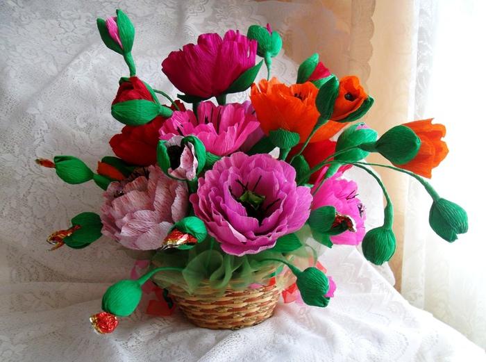 Ободки с цветами своими руками из атласных лент