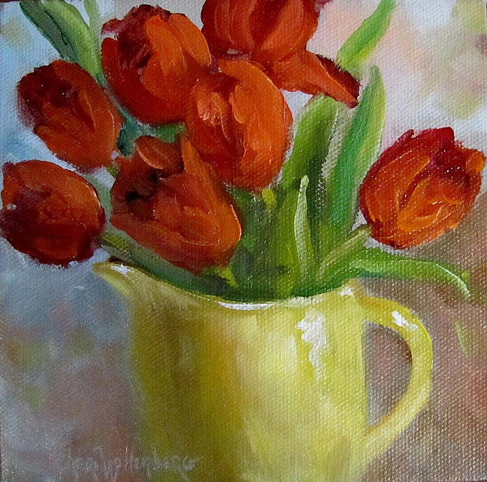Cheri Wollenberg-red-tulips- (700x692, 444Kb)