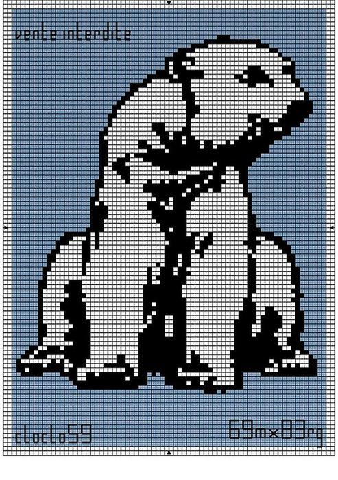Медведь схема для вязания 587